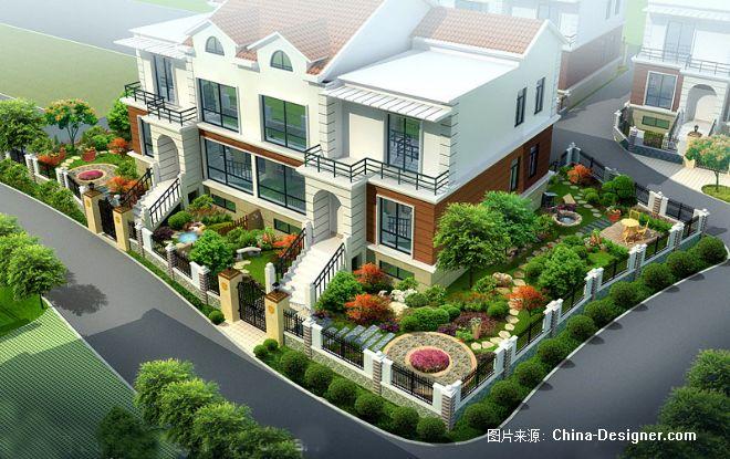 沈陽別墅庭院園林設計景觀綠化施工建筑效果圖制作表現