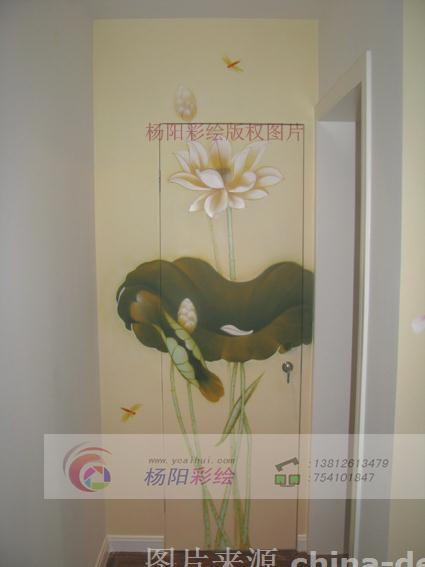 苏州墙体彩绘 隐形门手绘墙-苏州手绘墙的设计师家园-342817