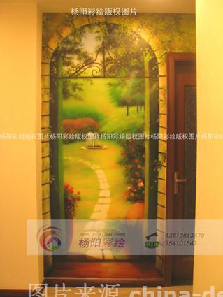 欧式风格手绘花园,苏州墙体彩绘,手绘风景-苏州手绘墙的设计师家园-35