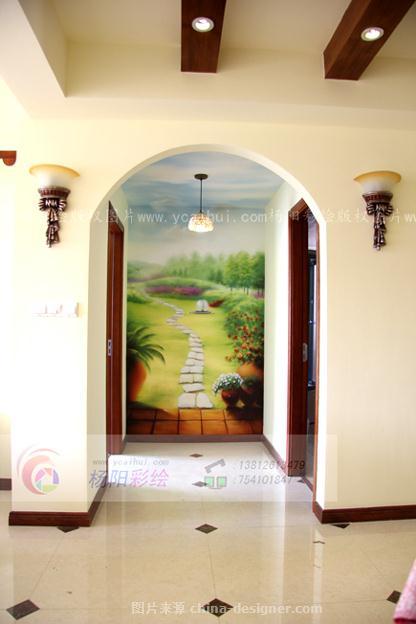 扬州手绘墙--美式乡村风格墙绘(田园风格墙体彩绘)-杨阳的设计师家园