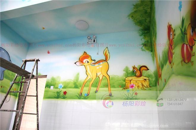 昆山手绘墙,昆山幼儿园墙体彩绘,昆山幼儿园室内喷绘彩绘-苏州手绘墙