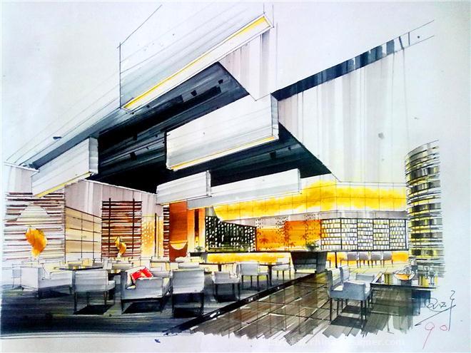 餐饮空间手绘-王必广的设计师家园-178164