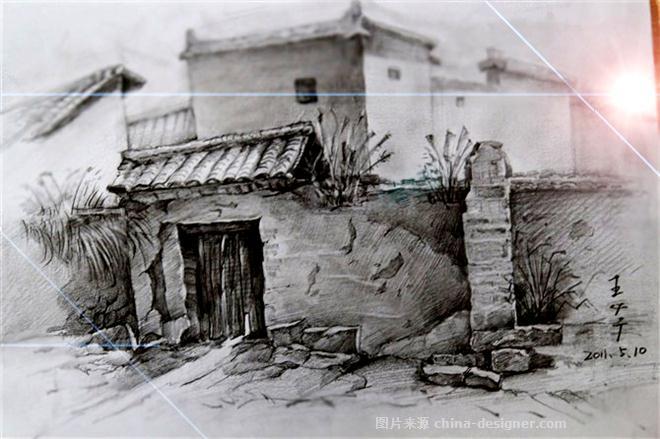 《老房子素描》-设计师:王必广