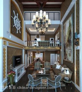 《挑空欧式客厅效果图》-设计师:舒美霞