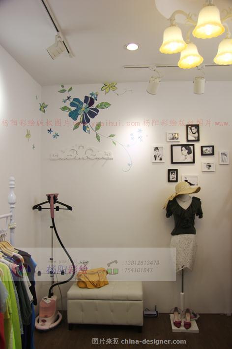 店面手绘墙装饰,服装店墙体彩绘-苏州手绘墙的设计师家园-354272