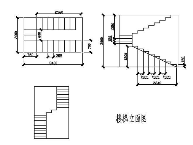 楼梯立面图-雷响的设计师家园-180