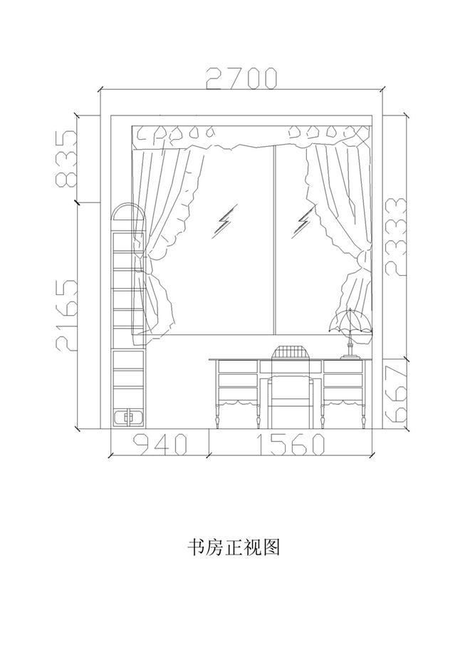 书房立面图-余赫泳的设计师家园-180544,54,744图片