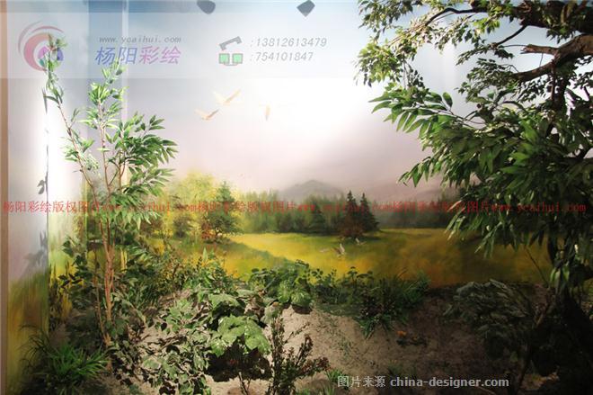 《博物馆手绘墙,美食街》-设计师:苏州手绘墙
