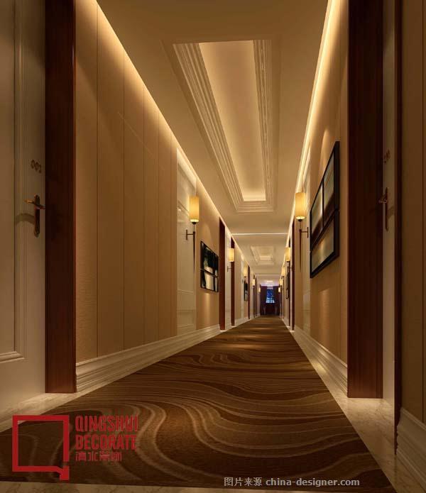 酒店走廊装修设计效果图-清水艺术空间(郑州)装饰有限公司的设计师