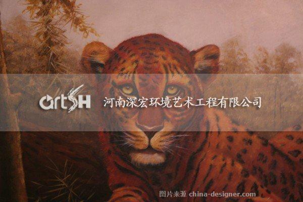 《动物园场景壁画》-设计师:河南深宏环境艺术工程