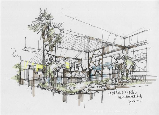 > 室内设计方案手绘图  以前做的室内设计方案2(手绘稿) (490x318)