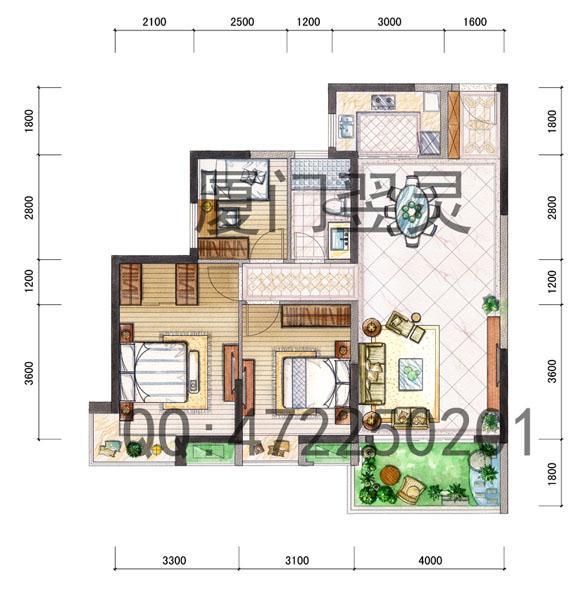 房地产户型图制作/手绘户型图制作-陈先生的设计师家园-1522
