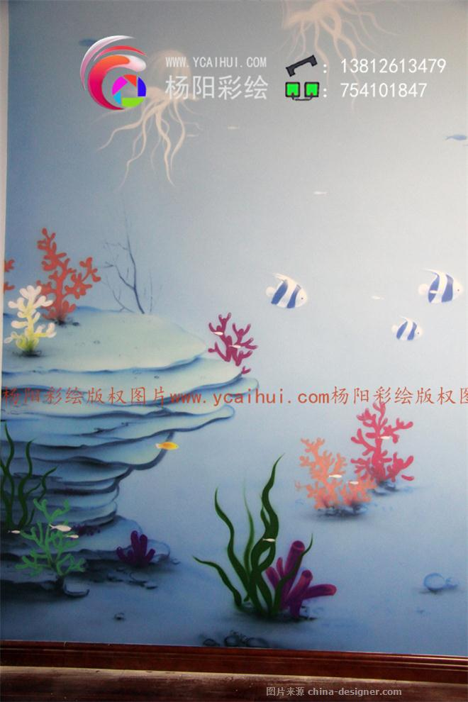 儿童房手绘墙,卡通壁画