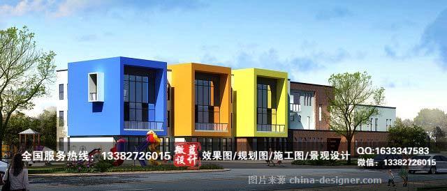 武汉幼儿园3d设计外观效果图,武汉幼儿园外观设计效果图-李恒的设计师
