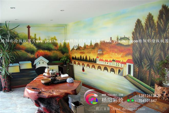 苏州墙体彩绘,欧式油画风景,风景壁画-苏州手绘墙的设计师家园-684240