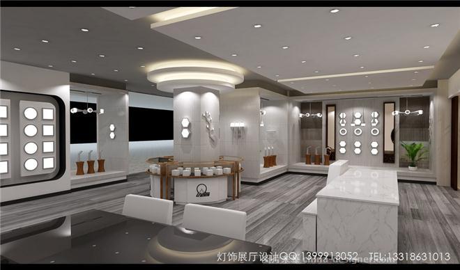 邓能达 灯饰展厅设计LED商业照明展厅设计