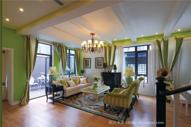 客厅装修设计-别墅伍禾家园装修设计-杨洋的设计师一道-182426,478481在别墅售亭九图片