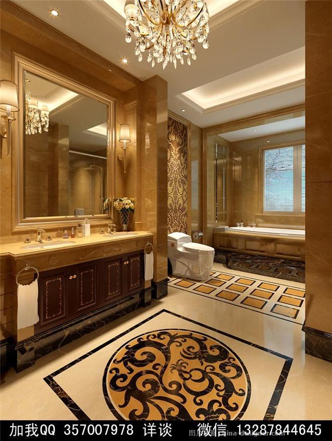 古典欧式风格别墅室内设计案例效果图-室内设计师93