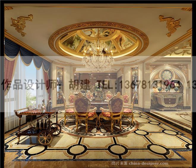 金堂绿岛别墅设计法式风格案例-胡建的设计师家园-10360,700654,2496