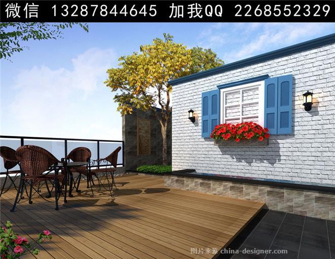 屋顶花园设计案例效果图-室内设计师93的设计师家园-705972
