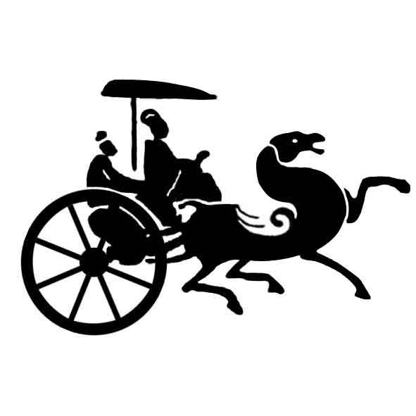 古代欧洲马车 矢量