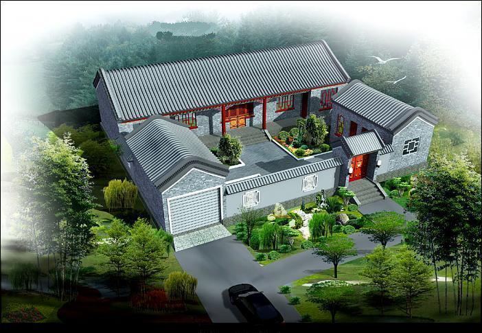 四合院的设计师家园:::农村四合院别墅设计-中国建筑